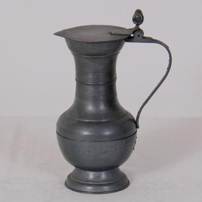 č.1166 korbel cínový výška 18 cm