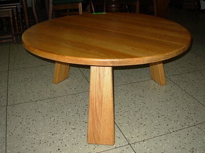 č.1275 konferenční stůl masiv dub kulatý ⌀ 98 cm