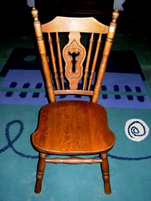 č.2532 židle masiv dub