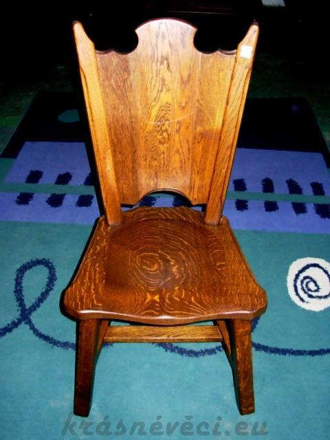 č.2529 židle masiv dub