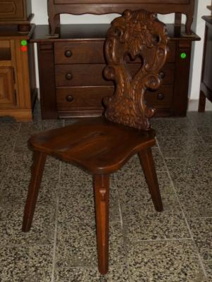 č.1492 židle masiv dub