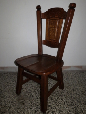č.1835 židle masiv dub