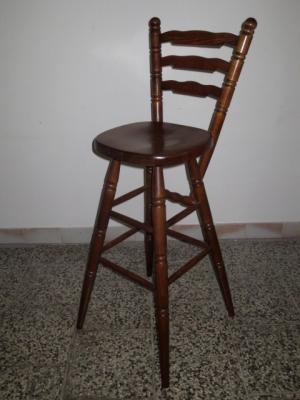 č.1831 barová židle masiv dub