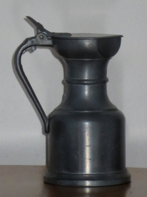 č.1163 korbel cínový výška 17 cm