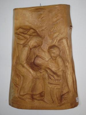 č.969 obraz dřevěný 39x54 cm