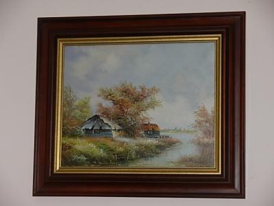 č.317 obraz olej 68x58 cm