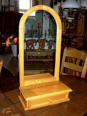 č.1416 zrcadlo s šuplíkem 38x74 cm