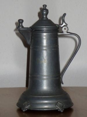 č.1345 korbel cínový výška 15 cm