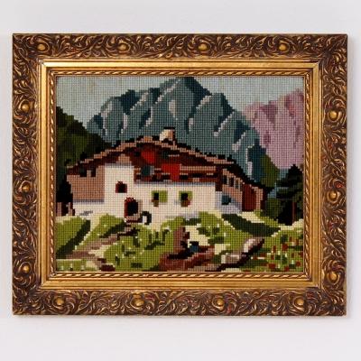 č.1925 obraz výšivka 33x28 cm