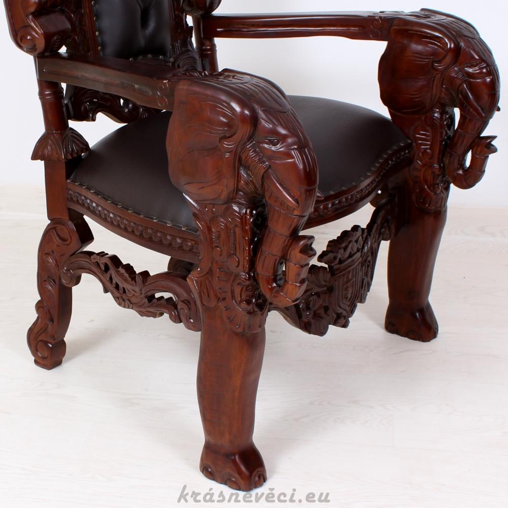 č.777 trůn královský se sloní hlavou