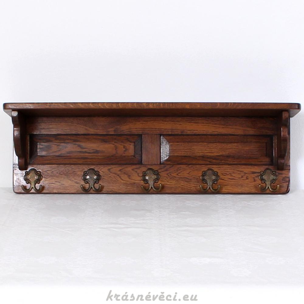 č.1830 věšák závěsný masiv dub