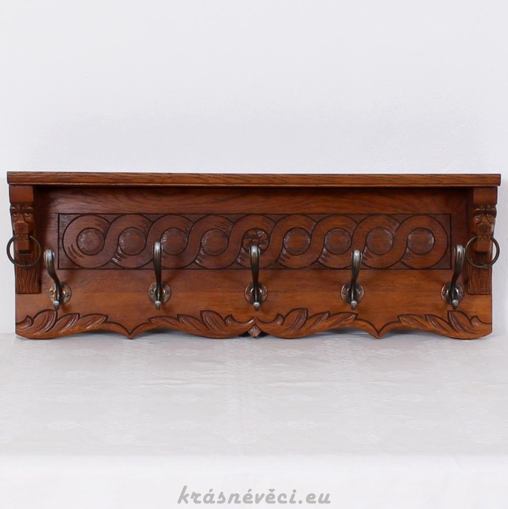 č.1794 věšák závěsný masiv dub