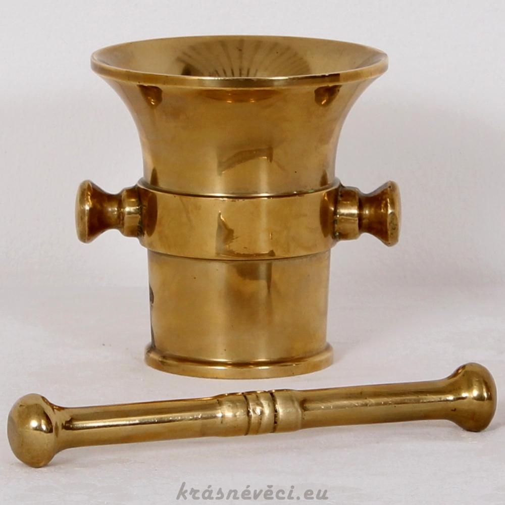 č.1710 hmoždíř mosazný  ⌀12,5 cm, výška 13 cm
