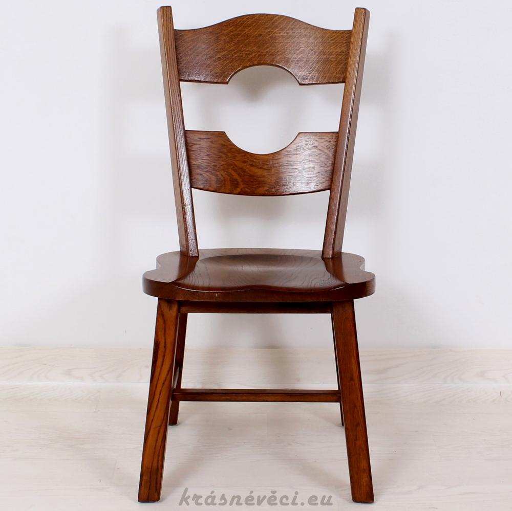 č.1878 židle masiv dub