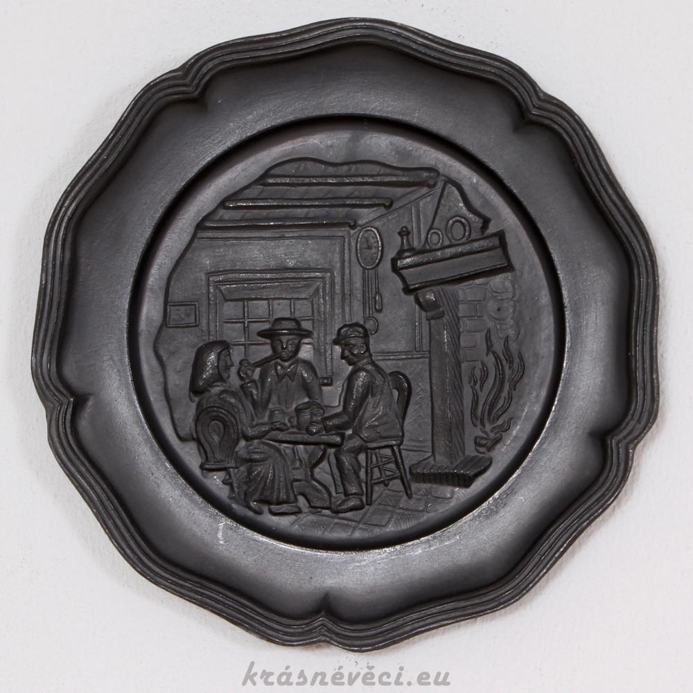 č.1585 talíř cínový závěsný