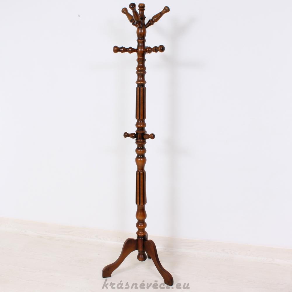č.1449 věšák stojací dřevěný