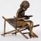 č.3096 dívka na lehátku - bronz