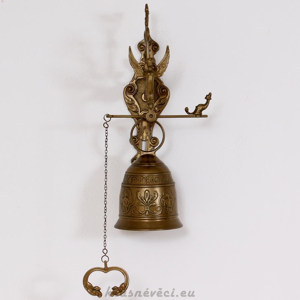 č.971 mosazný závěsný zvonek