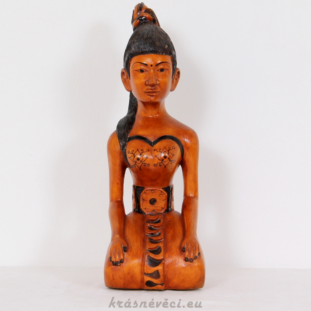 č.400 dřevěná soška ženy