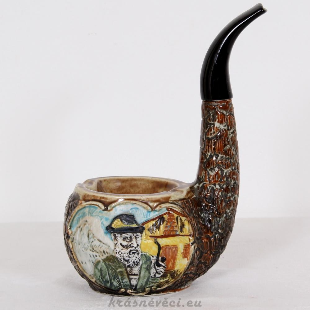 č.406 keramický popelník - fajka