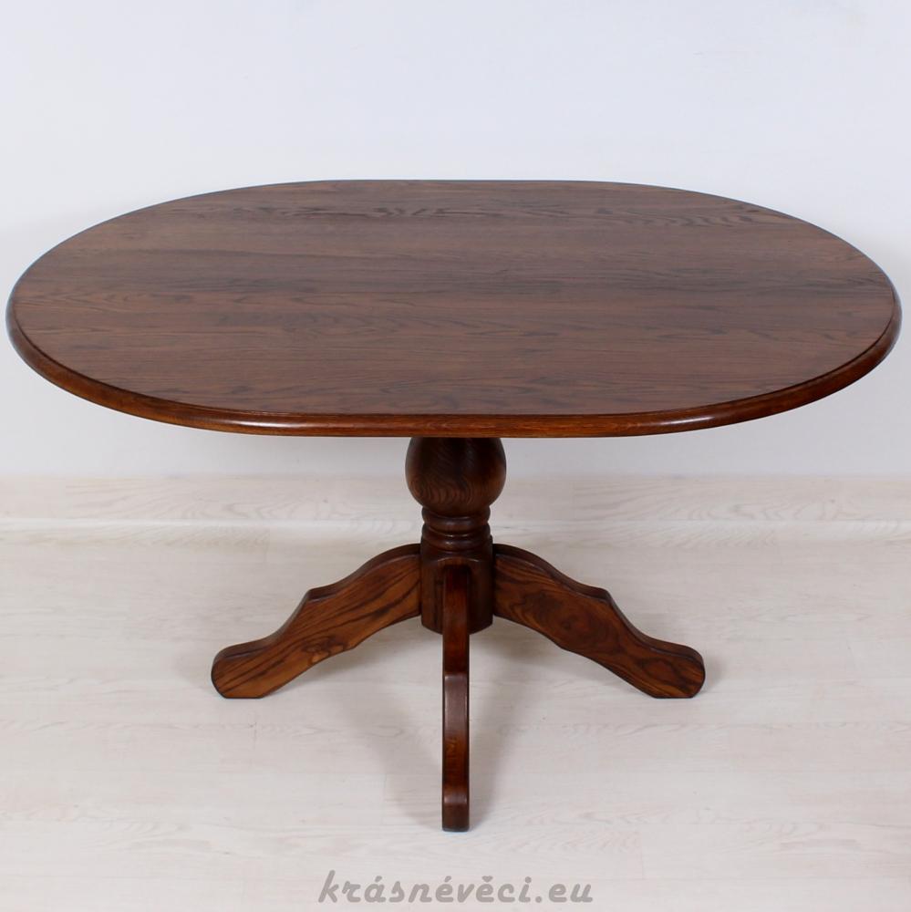 č.1787 kuchyňský stůl oválný 140x105 cm