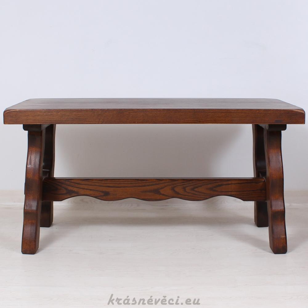 č.1923 kuchyňský stůl masiv dub obdelník 145x80 cm