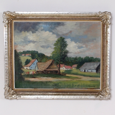 č.27 obraz olej 79x65 cm, Hendrich