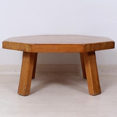 č.911 konferenční stůl masiv dub osmihran 99x99 cm