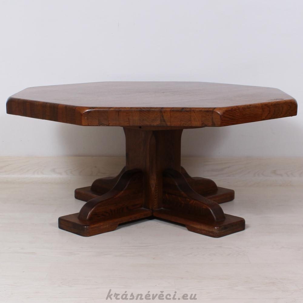 č.1060 konferenční stůl masiv dub osmihran 100x100 cm