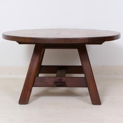č.744 konferenční stůl masiv dub kulatý  ⌀ 90 cm