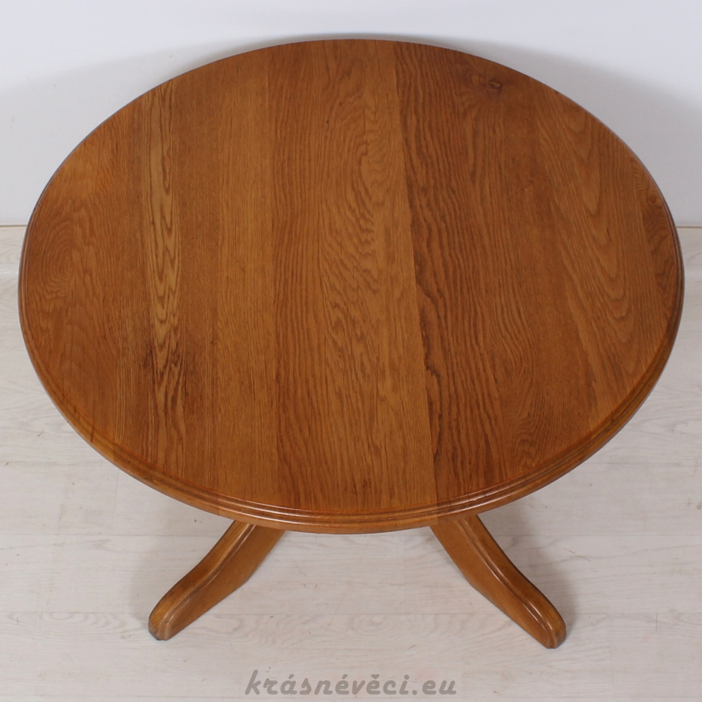 č.7 konferenční stůl masiv dub kulatý ⌀ 90 cm