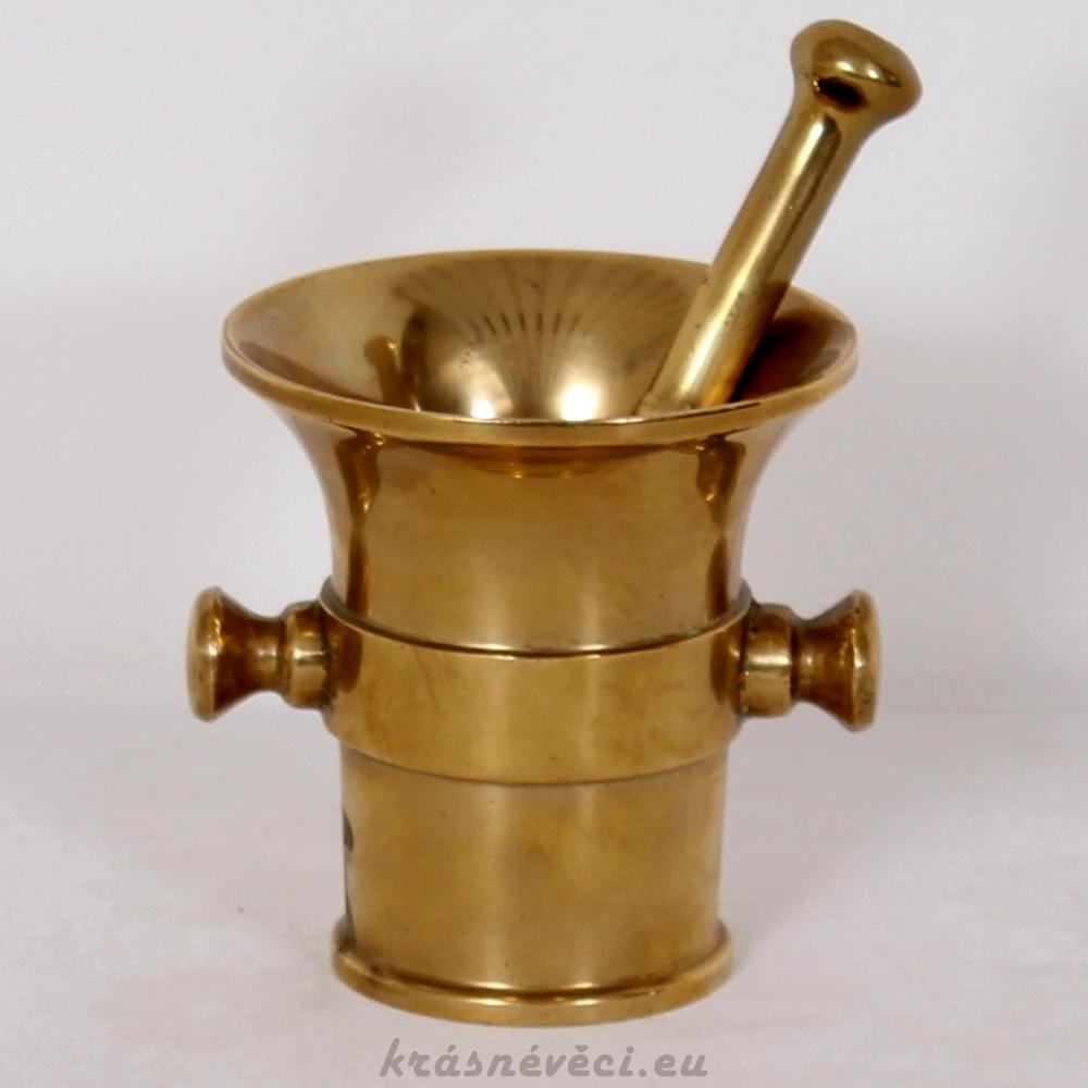 č.1711 hmoždíř mosazný  ⌀ 11,5 cm, výška 12,5 cm